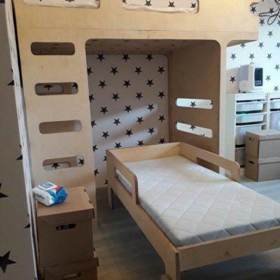 детская кровать чердак из фанеры