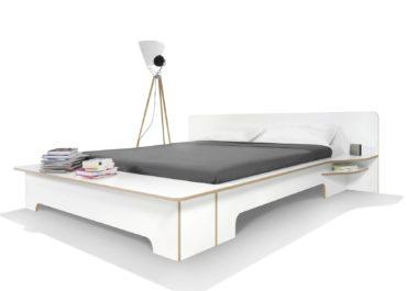 Кровать из ламинированной фанеры Wave Duo